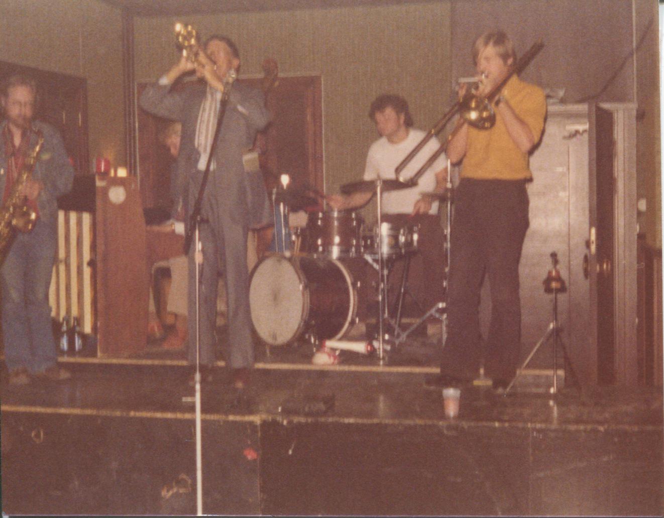 1970-tal Doc Cheatham Jesse, Erik P, Uffe J-W, Per Elvinger. Uppsala 70-tal