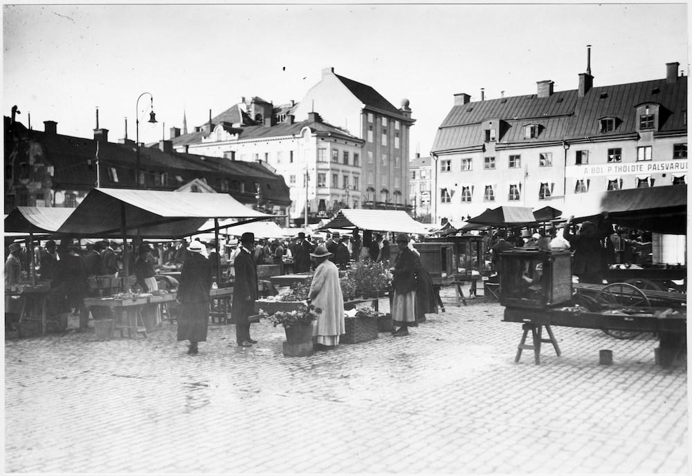 Hötorget anno 1918 (stockholmskallan.se)